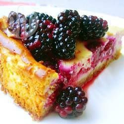 Bessencheesecake made it today with berries out of our own garden