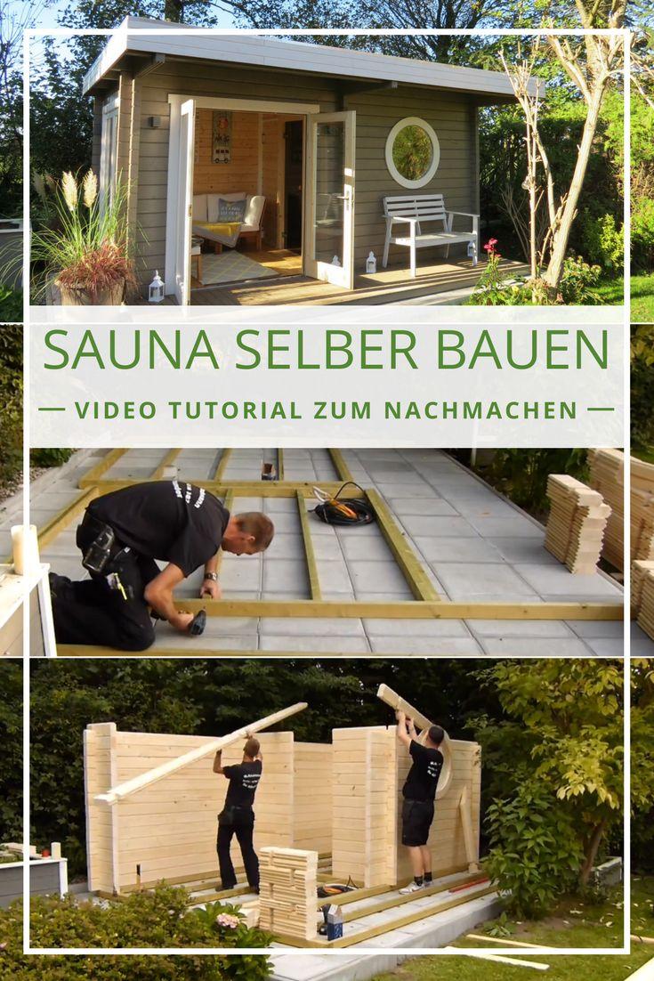 Sauna aufbauen: Schritt für Schritt Video Tutorial