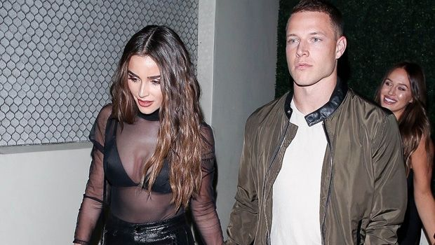 Cool Olivia Culpo S Bf Christian Mccaffrey Helps Her Squeeze Into Her Tight Leather Pants In Cute Video In 2020 Olivia Culpo Tight Leather Pants Christian Mccaffrey