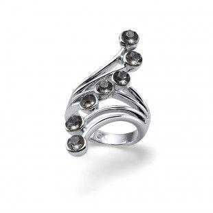 Oliver Weber Women swing design ring with Swarovski Crystals