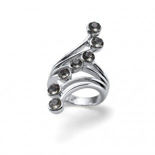 Oliver Weber Women swing design ring with Swarovski Crystals