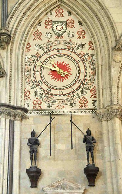 Clock Of York Minster, York, England