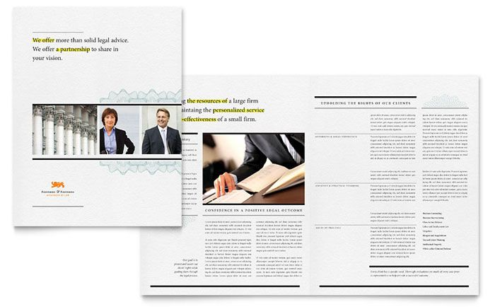 Classic Law Firm Brochure Template Design Pinterest Brochure - law firm brochure