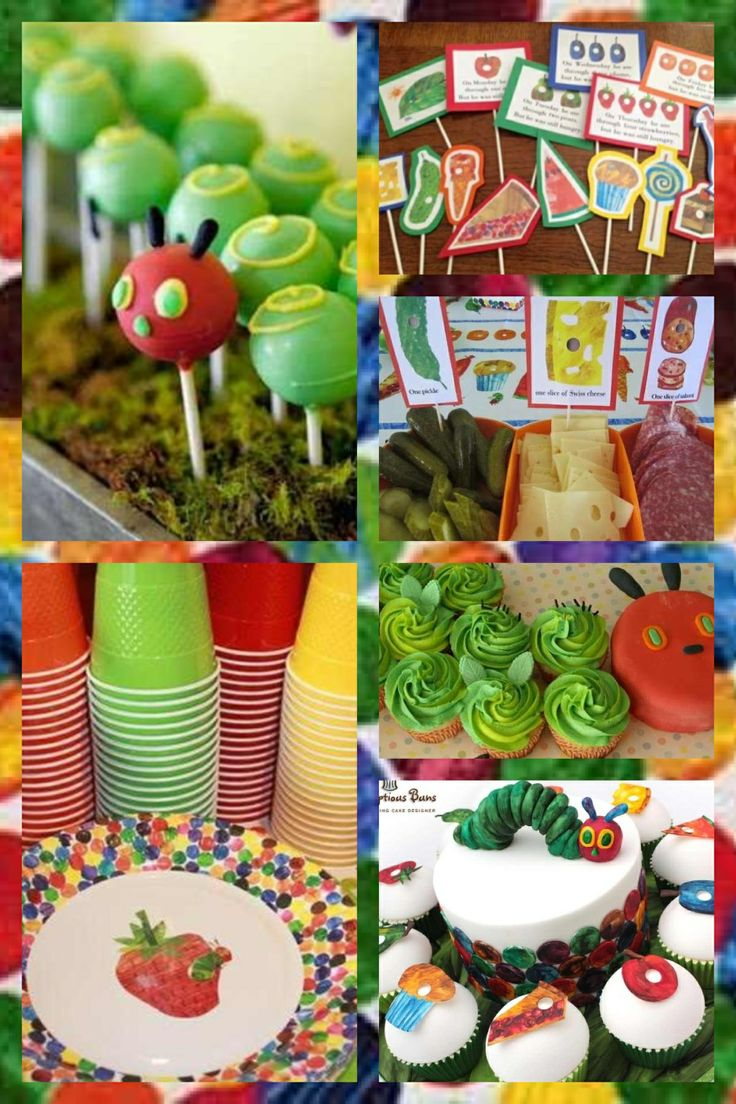 The hungry caterpillar first birthday ideas