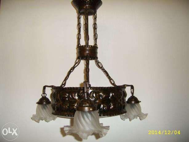 Lampa - żyrandol secesyjny Warszawa - image 1