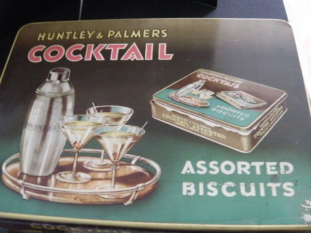 Cocktail Biscuits tin, circa 1950s 23 cm x 16.5 cm [in box]