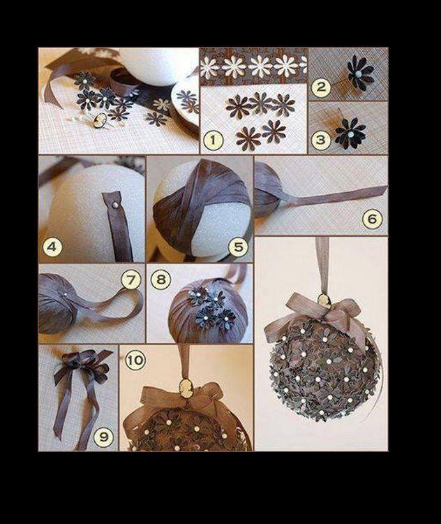 vanoční koule z polystyrenu,stužky,bar.špendlíků