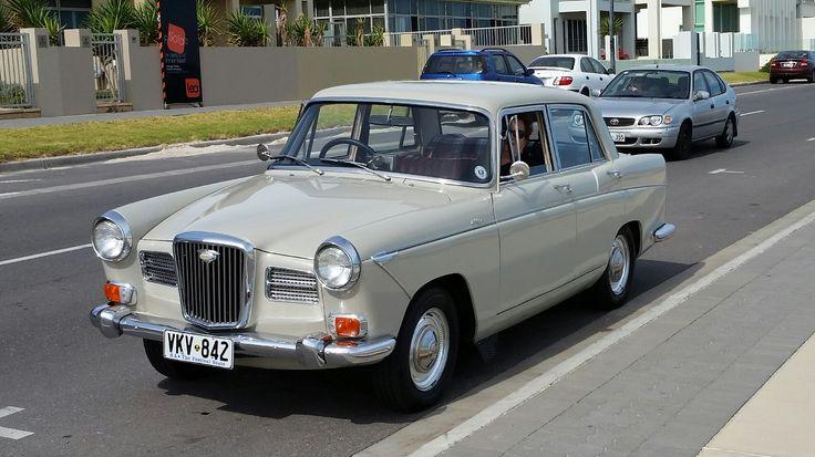 1965 Wolseley 24/80 Mk11 (Australian made), newly repaired door panels, cut & polished & new 60s style alum. wheel trim rings.
