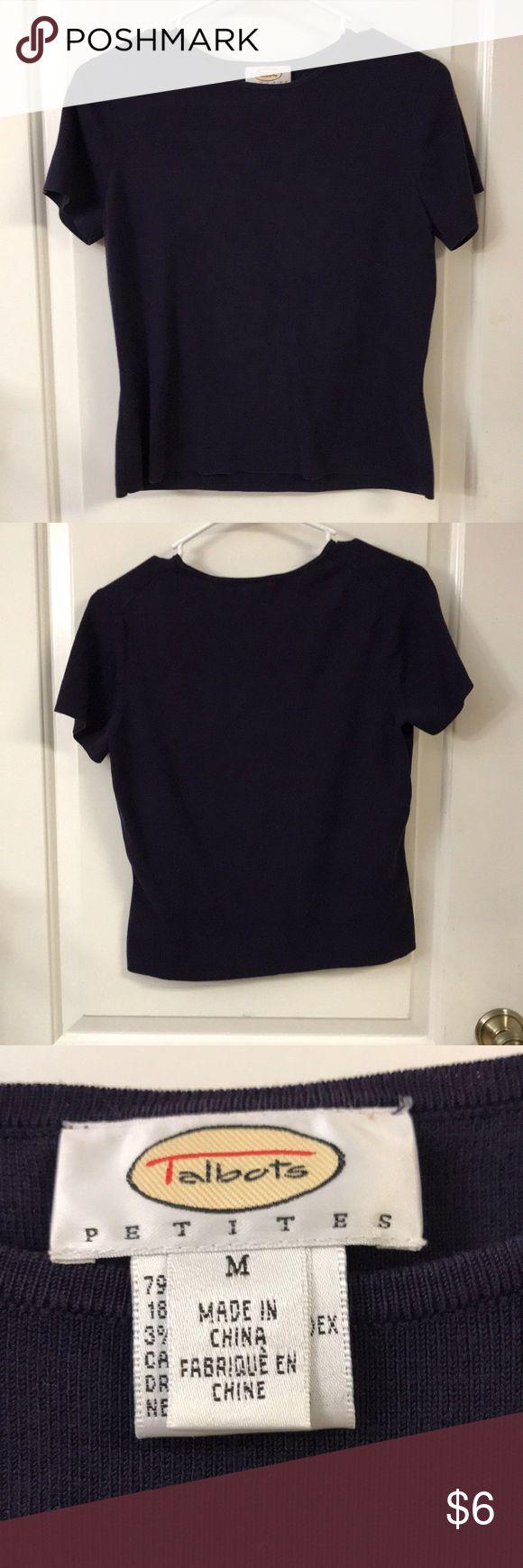 Talbots ladies size medium top Talbots , navy Blue, short sleeve top , size medium Talbots Tops Blouses