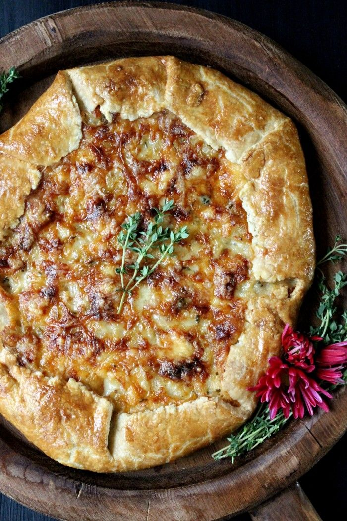 life changing!! this Sweet Onion Galette w/ Fontina & Thyme demands to be on your Thanksgiving table -- an absolute stunner everyone will be raving over!