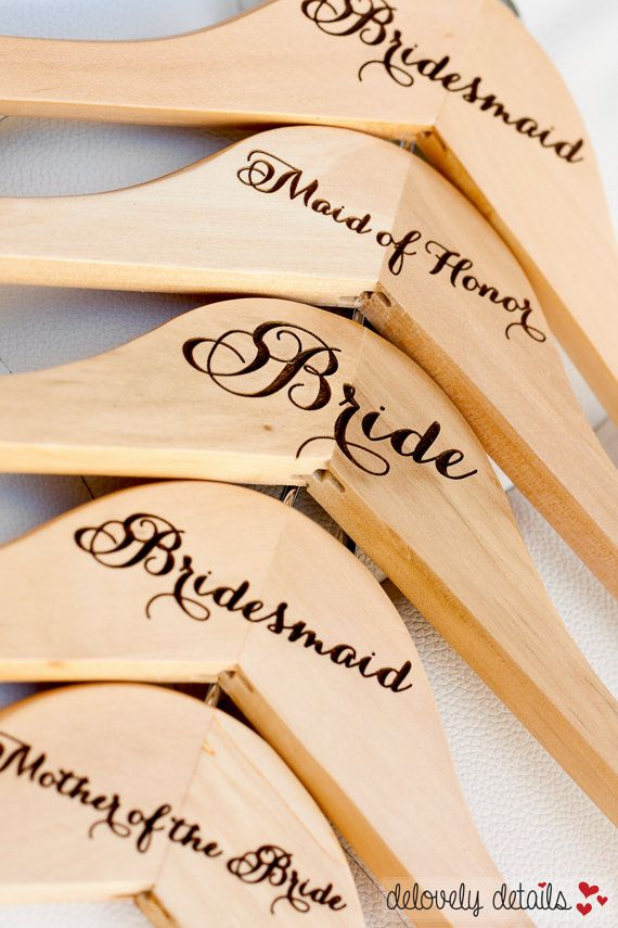 1 Personalized Bridesmaid Hanger Engraved by delovelydetails