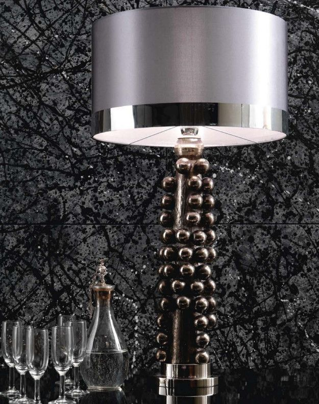 Tall Sculptural Platinum Balls Table Lamp Partner Furniture Chandeliers Floor Lamps Wall Lights Available Luxury Hotel Contract Orders Welcome