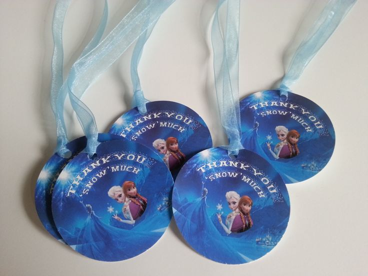 Frozen Elsa Anna party thank you tags Girls party favors by TulleVogue on Etsy