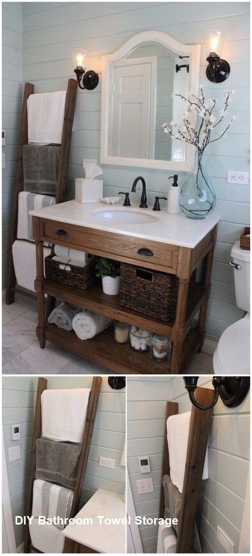 DIY Badetuch Aufbewahrungsideen #Badezimmerspeicher