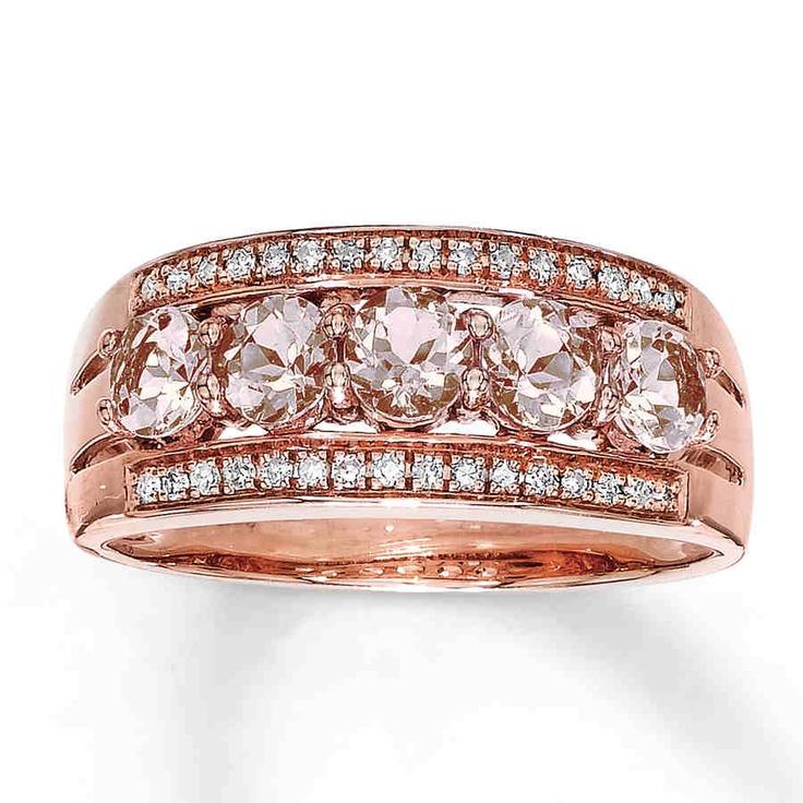 Rose Gold Rings Morganite In Rose Gold Rings