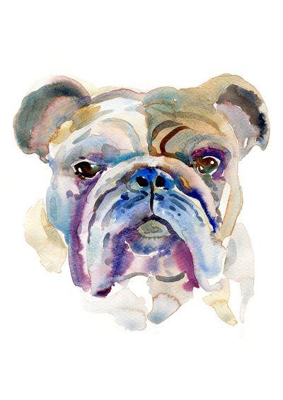 Bulldog Art Print Design, My family and Nice