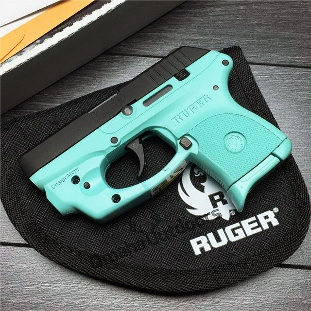 Ruger LCP LaserMax Laser Tiffany Blue Black Edition 380 ACP 6 RDS 2.75″ Handgun - Omaha Outdoors