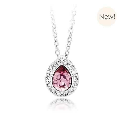 Christie Pear Pendant with Antique Pink Swarovski® Crystal