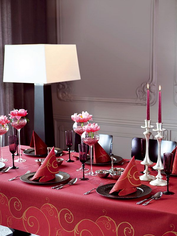 Valentine tablesetting