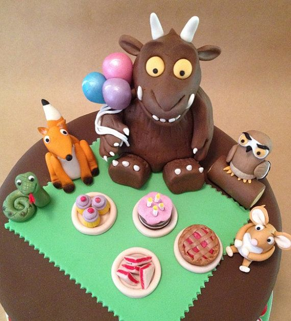 Gruff Cake Topper Set edible fondant icing- holy adorable!!!