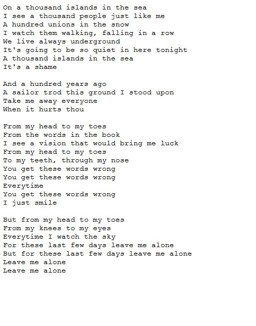 Such a beautiful song. New Order ~ Leave Me Alone