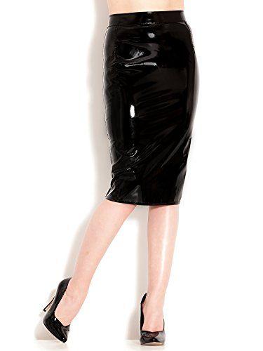 de8a15674a94 Monroe Pencil Skirt for Ladies Women - Black - Sexy Fetish - L (UK ...