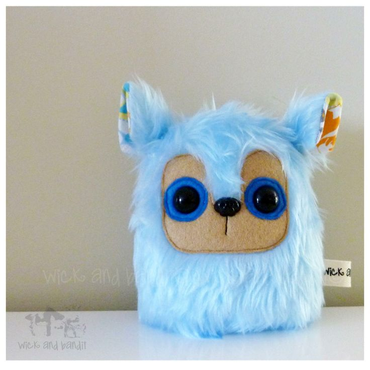$13 Critter Plush Light Blue Fox Ears by Wickandbandit on Handmade Australia