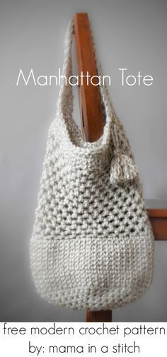Crochet pattern for nice sized bag- not too big ༺✿ƬⱤღ http://www.pinterest.com/teretegui/✿༻