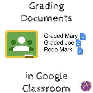 Grading files in google classroom