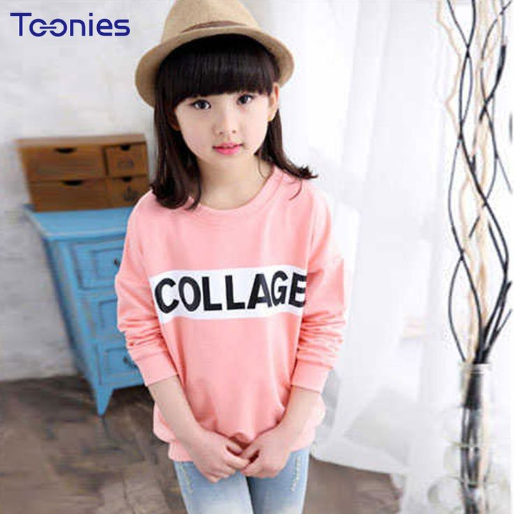 Cashmere T-shirts for Children Long Sleeved Girl T-shirt Warm Cotton Girl Pullovers 2018 Winter Fashion Street Girl Clothes Top //Price: $25.50 //     #kids