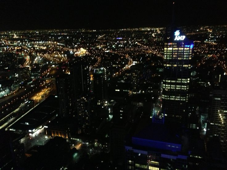 Melbourne via at night from Rialto Tower
