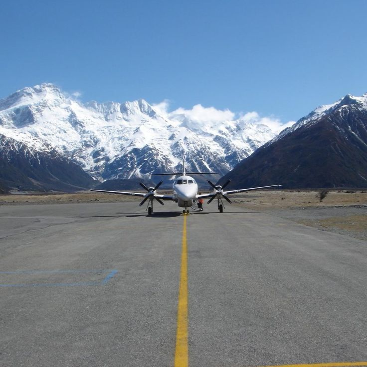 Jetstream 32 on the Mt Cook Airfleld, South Island, New Zealand.