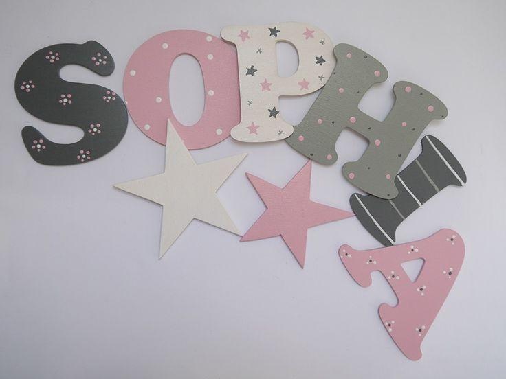 8 cm Holzbuchstaben für die Kinderzimmertüre von