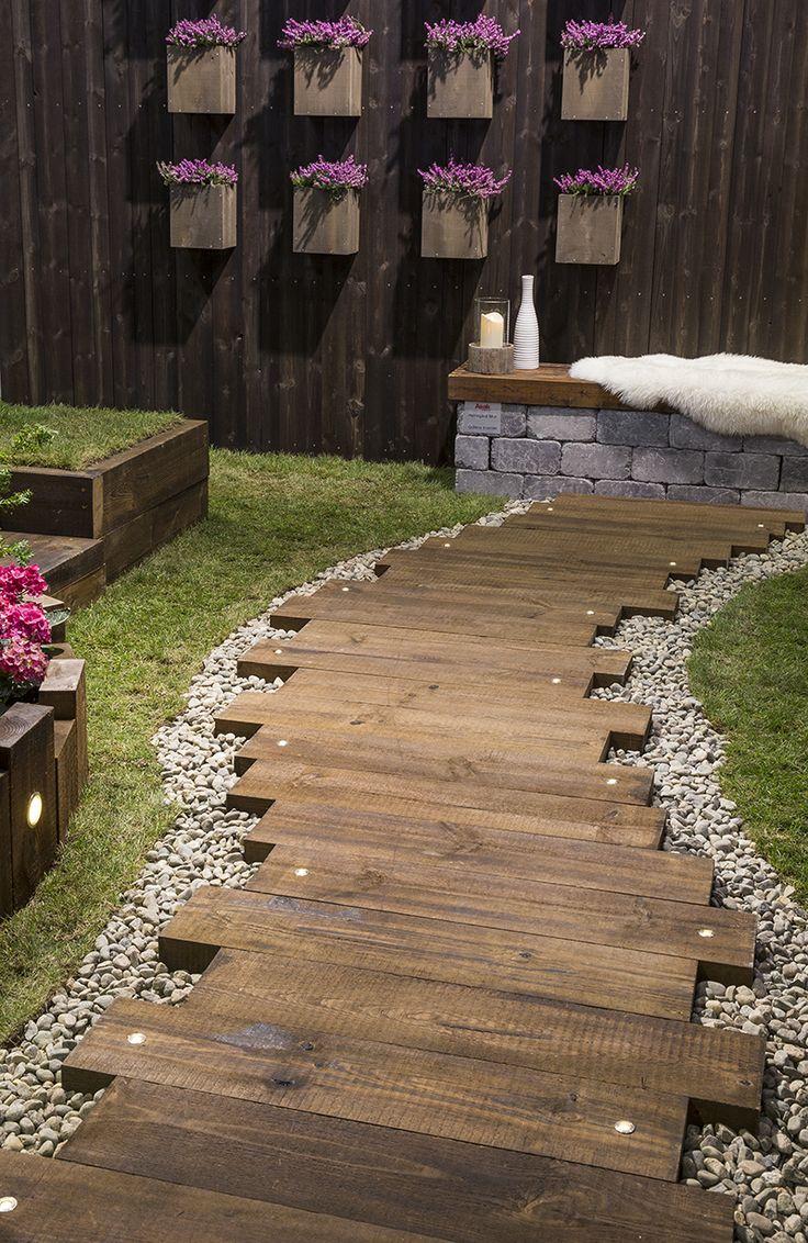 Svillegang til hagen kombinert med stein