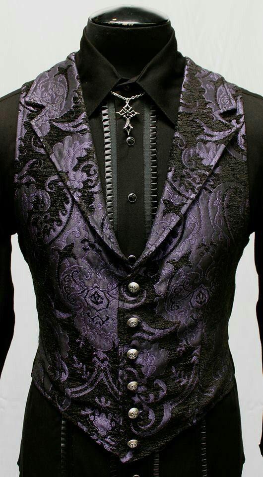 Men's goth vest