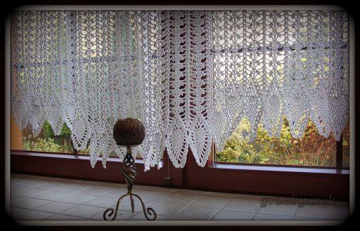Powstały na wzór wiszących w moich oknach FIRANEK ECRU ... Wykonane na podstawie wspomnianego wcześniej wzoru znalezionego w necie... a mian...