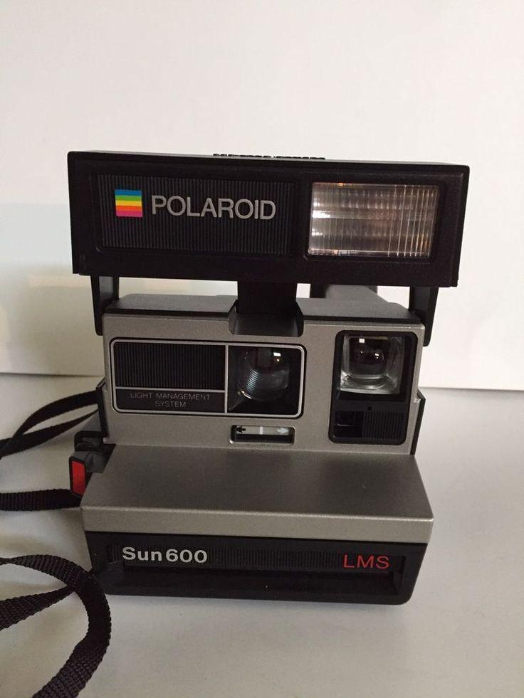 VINTAGE POLAROID SUN 600 LMS Land Camera Flash Instant Photo Original Box Manual #Polaroid