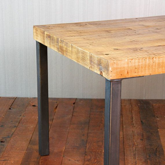 Reclaimed Wood Dining Table Hudson Steel Legs By CroftHouseLA