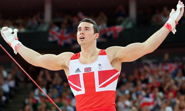 Doesn't this guy look exactly like a grown-up version of Benji?     Kristian Thomas of Great Britain celebrates