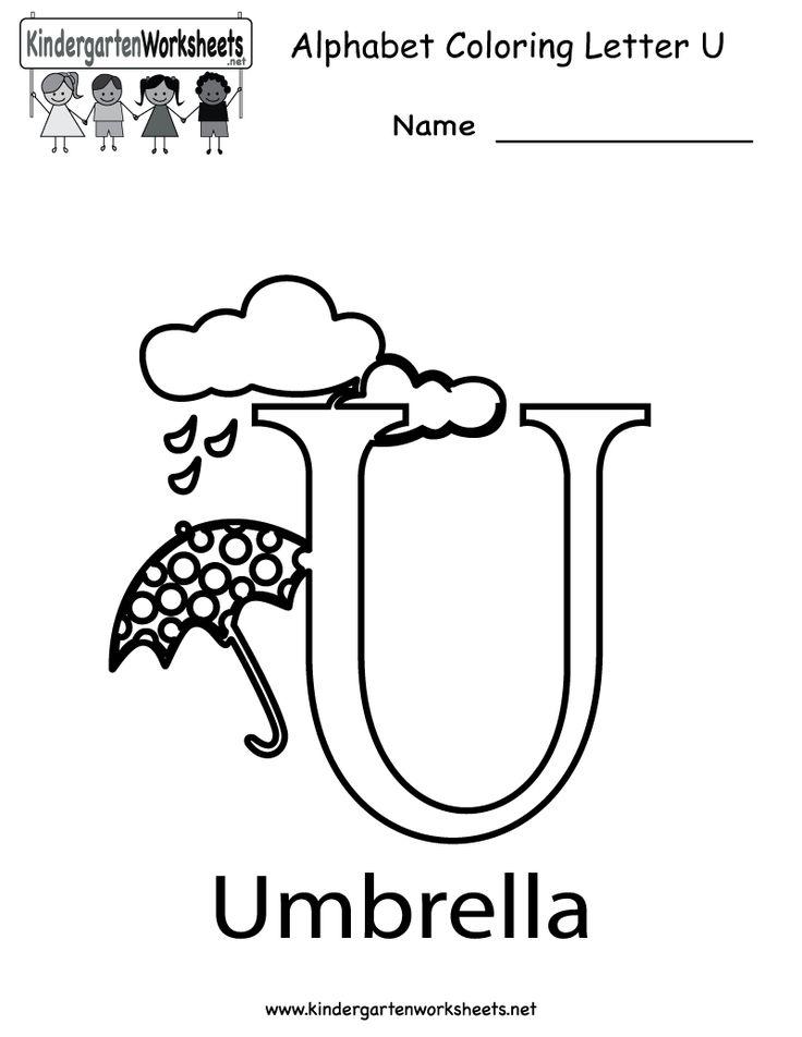 19 best letter u worksheets images on pinterest letters preschool kindergarten letter u coloring worksheet printable altavistaventures Gallery
