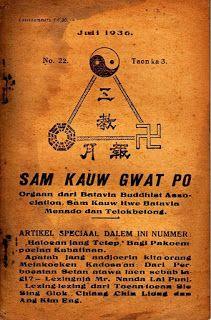 "Penerbit: Batavia Buddhist Association, Sam Kauw Hwe Batavia, Menado, dan Telokbetong. Pengurus dan penanggung Djawab Redactie: ""Moestika Dharma"".  Isinya, selain berita organisasi, juga cerita-cerita pendidikan moral.  Majalah yang tampak di blog adalah No. 22/Tahun k3-3/Juli 1936. Koleksi K. Atmojo 2: 13/04/01 - 13/05/01"
