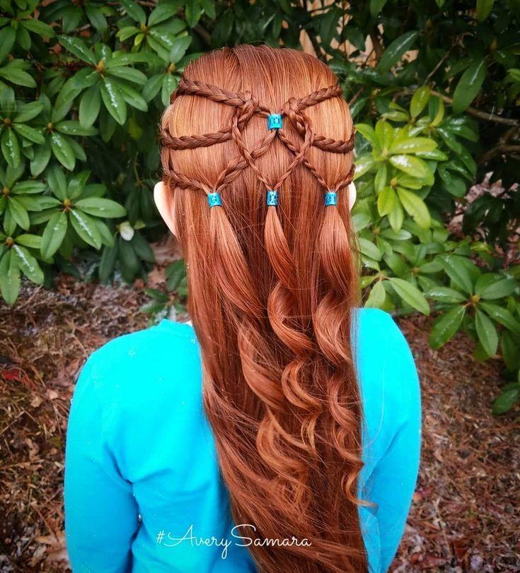 Heart braid. Fun braids. Easy hairstyles. Braids for kids. Hair cuffs.
