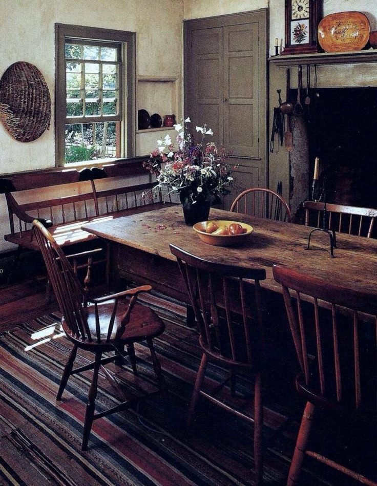 373 best PrimColonial Dining Rooms images on Pinterest