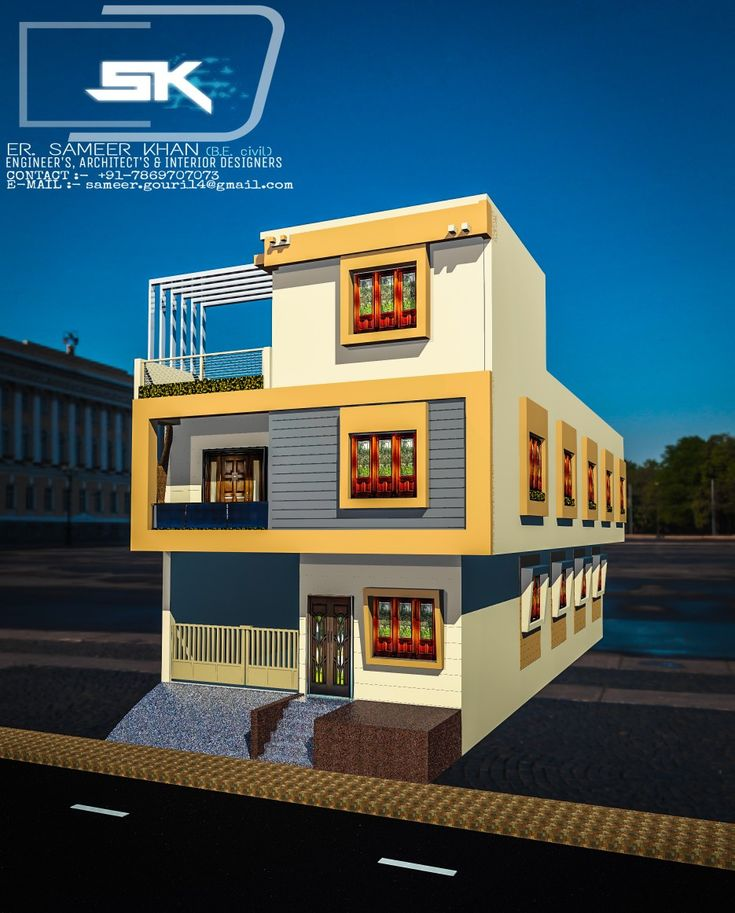 Introducing Modern House Exterior Elevation 24 Feet Front