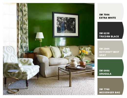 living room paint color ideas black furniture built ins colors from chip it! by sherwin-williams | sherwin ...