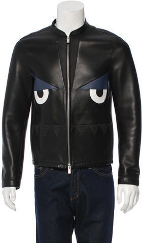 Fendi Monster Leather Jacket w/ Tags