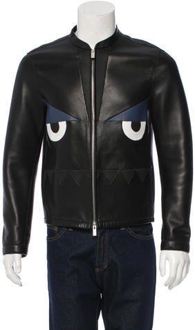 Fendi Monster Leather Jacket w/ Tags