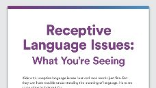 Graphic of Receptive Language Issues: What You're Seeing