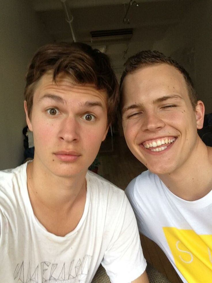 Ansel Elgort with Jerome Jarre. So much perfect in one.