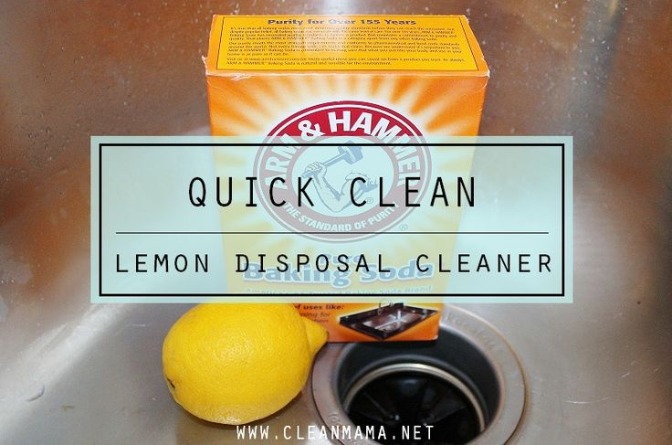 Quick Clean Lemon Disposal Cleaner Cleanses Clean